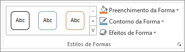 Grupo estilos de formas no PowerPoint