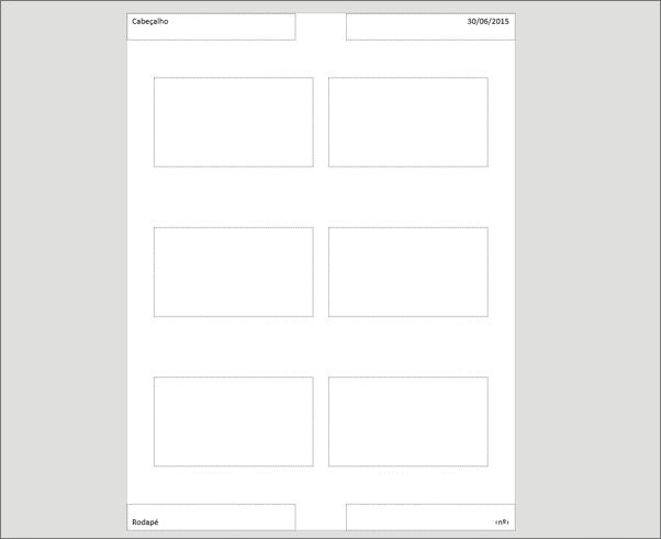 Mostra o Modelo Global de Folhetos do PowerPoint