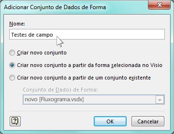 Caixa Adicionar Conjunto de Dados da Forma