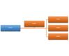 Esquema de gráfico SmartArt Organograma Horizontal
