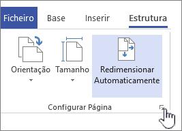 Clique no ícone no canto da secção de configuração da página