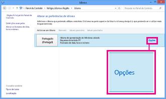 Adicionar um método de introdução no Painel de Controlo no Windows 8