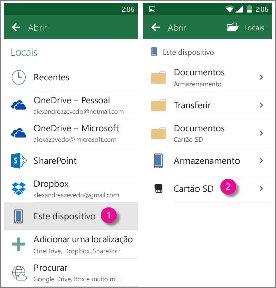 Office para cartão Android SD