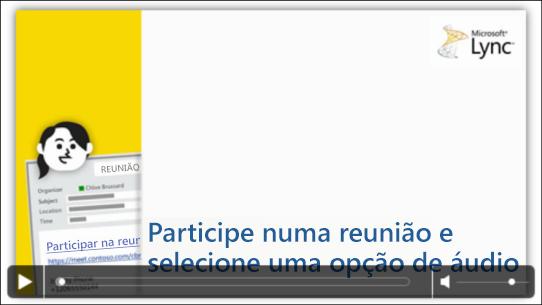 Captura de ecrã de um diapositivo do PowerPoint com controlos de vídeo