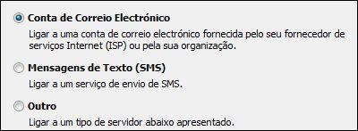Opção Adicionar Nova Conta, Conta de E-mail no Outlook 2010