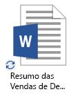 Ícone de sincronização em curso do OneDrive