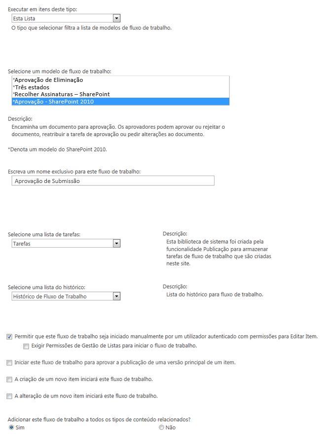 Primeiro formulário de iniciação