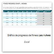 Selecione isto para obter o modelo do Gráfico de Progresso da Condição Física para Mulheres