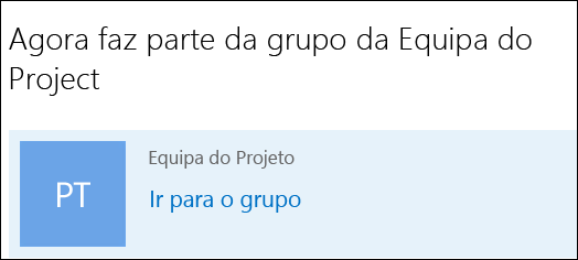 Aderir a um grupo no Outlook