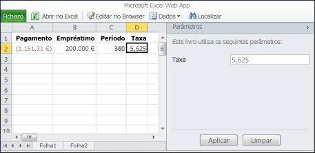 Utilizar um parâmetro no browser