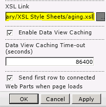 Ligação do ficheiro XSL colada