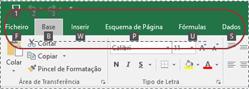 Como visualizar as teclas de atalho do friso do Excel
