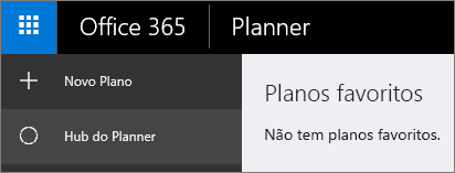 No Planner, selecione Novo plano.