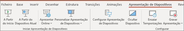 Apresentação de Diapositivos do PowerPoint do Office 365