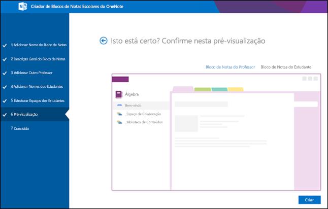Captura de ecrã do ecrã de pré-visualização do Office 365.