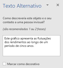 Painel de texto do Word Win32 alternativo para gráficos