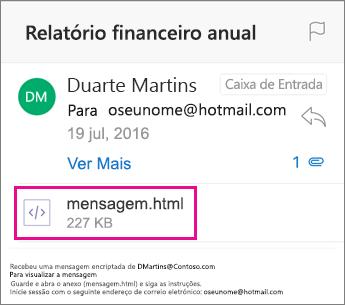 Visualizador da OME para o Outlook para iOS 1