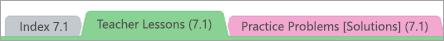 Secções do bloco de notas Open Up Resources