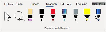 Canetas da Ferramenta de Desenho do Microsoft 365