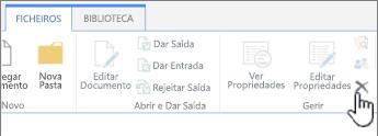 Eliminar Documento no separador Ficheiro