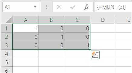 Um exemplo da função MUNIT
