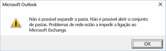 Erro do Outlook 2016 – não é possível expandir a pasta