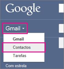 google gmail – clique em contactos