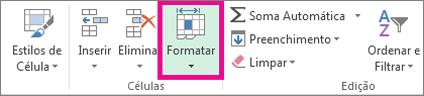 No separador Base, clique em Formatar