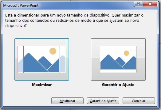 Se optar por maximizar, alguns conteúdos poderão ficar fora das margens de impressão, como pode constatar na imagem da esquerda.