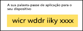 Copiar a palavra-passe de aplicação sem espaços
