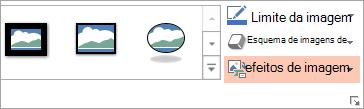 Apresenta o botão de imagem de esquema no separador Formatar