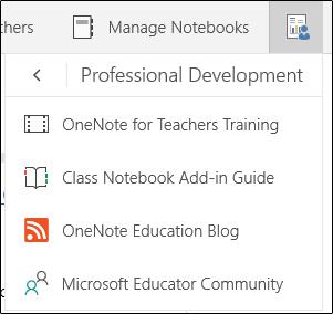 Gerir o menu de blocos de notas