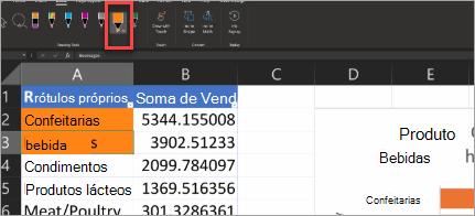 Mostrar a Caneta de Ação do Excel