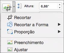 PPT para Mac: Menu Recortar