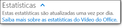 Estatísticas de vídeo do Office 365