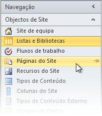 Abrir site no SharePoint Designer 2010