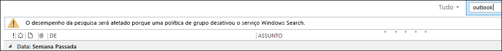 Windows Desktop Search Desativado