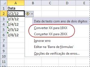 Comandos para converter datas