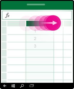 Imagem a mostrar como redimensionar uma coluna