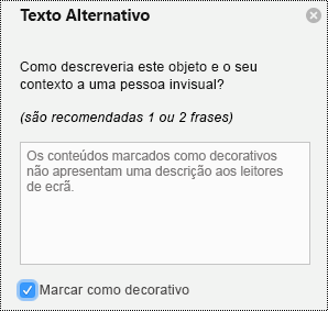 Imagem de texto de texto alternativo no PowerPoint para Mac no Office 365.
