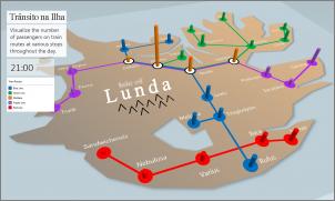 Imagem de um mapa personalizado