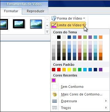 Alterar a cor de um vídeo