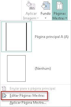 Editar as suas Páginas Mestras no Publisher 2013.