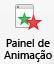 O botão do painel de animação
