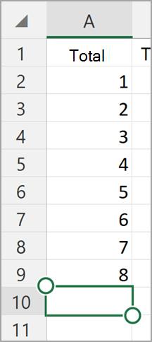 Windows tablet Excel AutoSum
