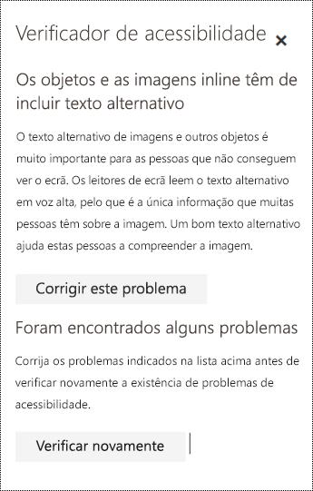 Verificar a existência de problemas de acessibilidade num e-mail no Outlook na Web.