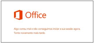 Problemas ao iniciar sessão na sua Conta Microsoft