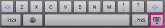 Toque na tecla do Teclado na parte inferior direita para ocultar o teclado
