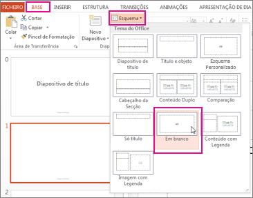 Aplicar novamente um esquema que alterou na Vista de Modelo Global de Diapositivos