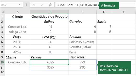Função MULT – Exemplo 2